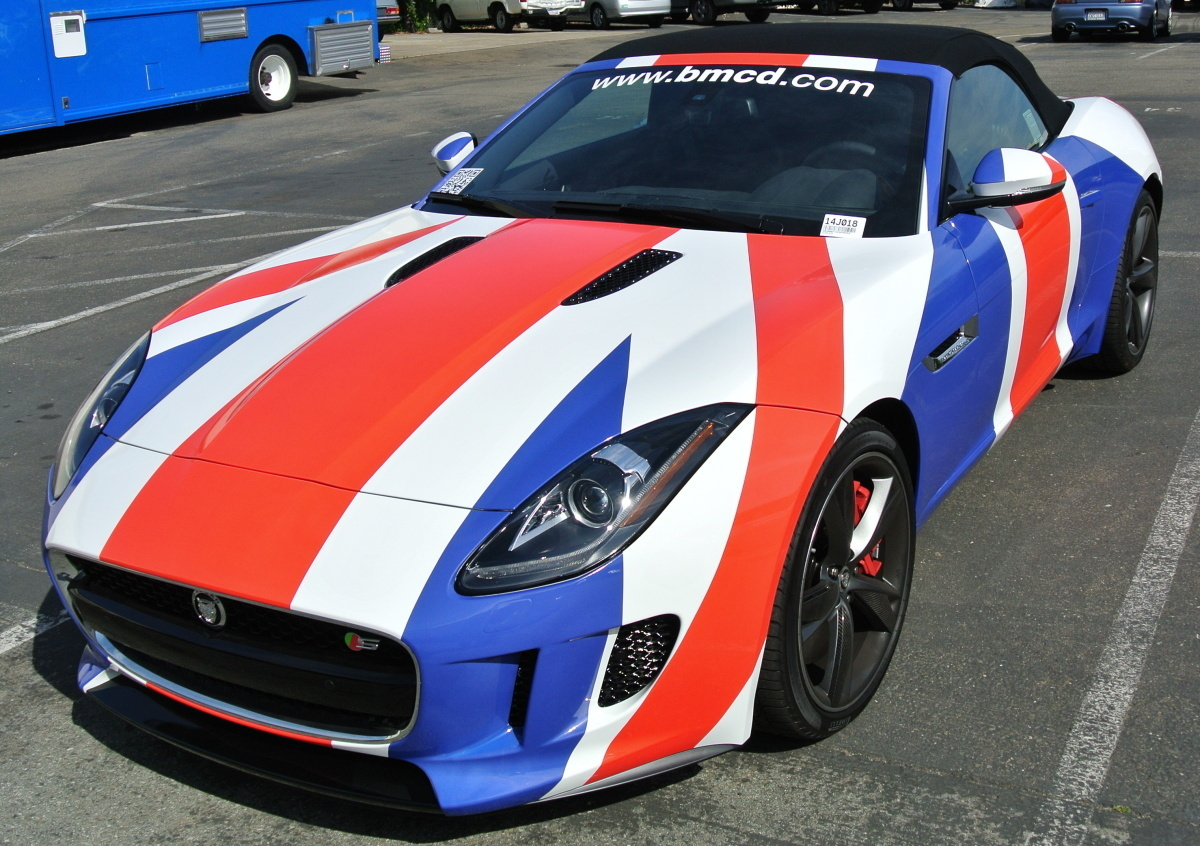 British Motor Car Diag Left Top Custom Vehicle Wraps