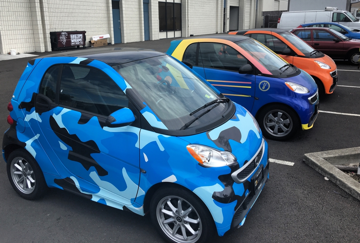 Smartcar Vehicle Wrap Custom Vehicle Wraps