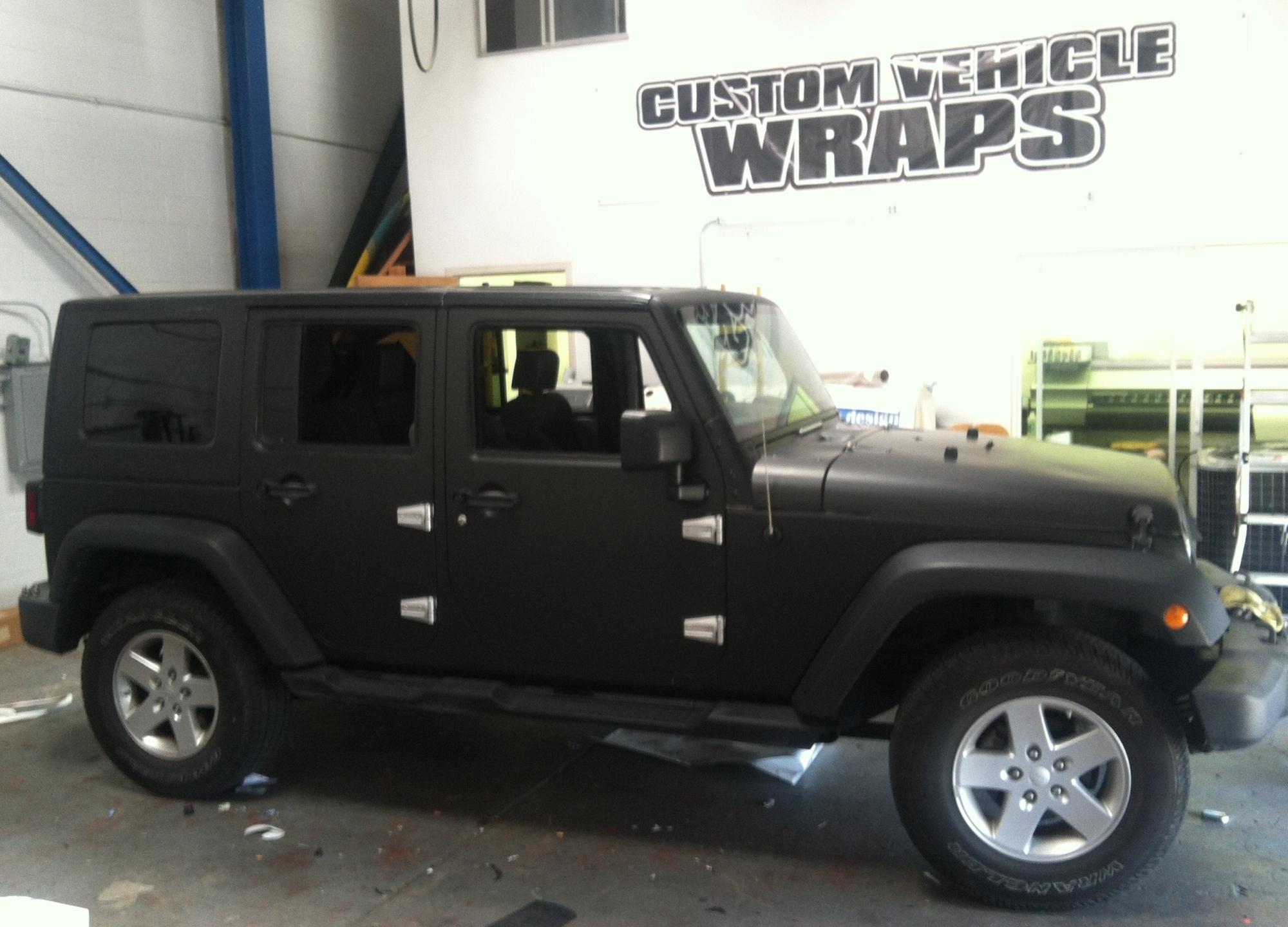 matte black jeep wrap 12 – Custom Vehicle Wraps